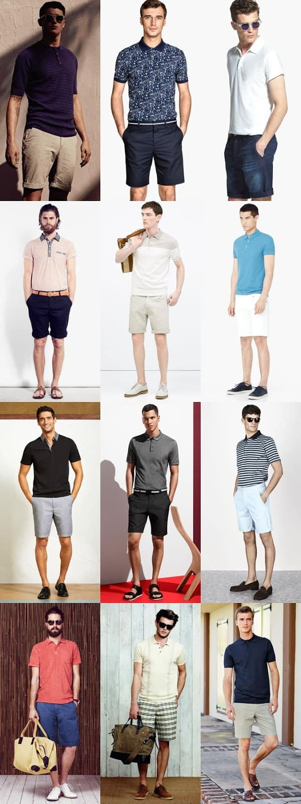 how to wear polo with shorts