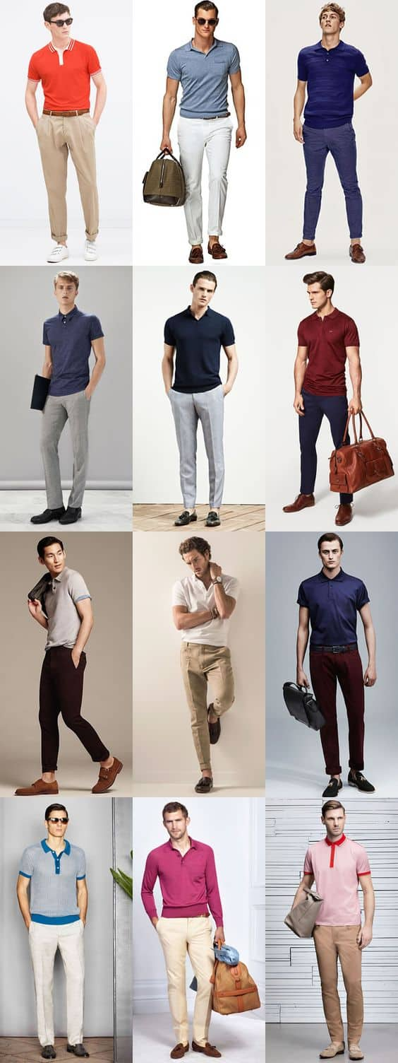 how to wear polo shirt with casuals