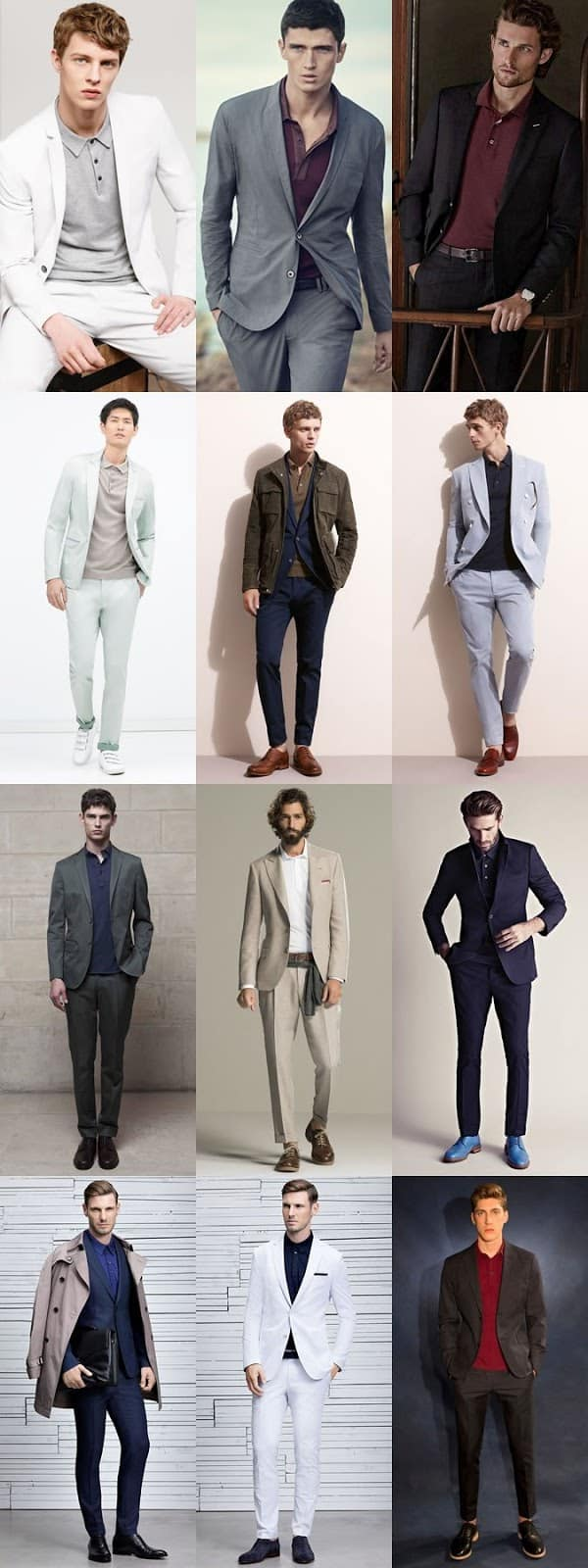 how to wear polo shirt with suits