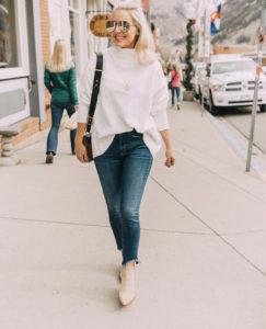 french tuck sweater women